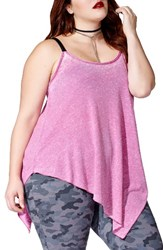 Mblm By Tess Holliday Plus Size Women's Asymmetrical Hem Camisole