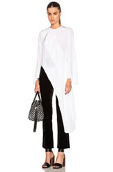 Givenchy Crepe De Chine Blouse In White