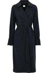 Charli Woman Makenna Stretch Crepe Trench Coat Navy