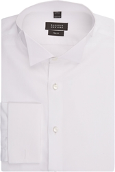 Barneys New York Hairline Pique Tuxedo Shirt White