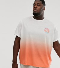 Jacamo T Shirt With Faded Print In White