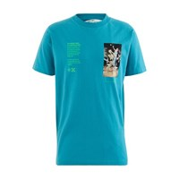 Off White Pascal Painting T Shirt Petrol Blue