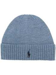 Ralph Lauren Logo Embroidered Hat Blue