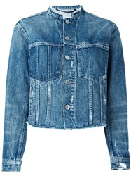 Helmut Lang Ghost Wash Jacket Women Cotton Polyester M Blue