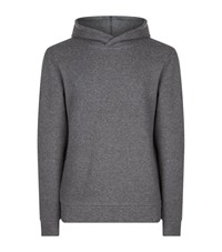 James Perse Compact Fleece Hoodie Male Grey