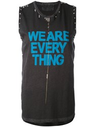 Freecity We Are Everything Top Women Cotton Xs Grey