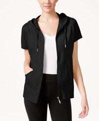 Styleandco. Style And Co. Short Sleeve Hoodie Only At Macy's Black