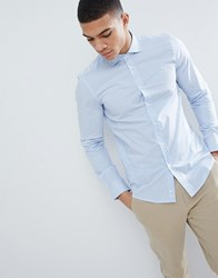 United Colors Of Benetton Slim Fit Shirt In Stretch With Stripe Multi