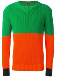 J.W.Anderson Colourblock Sweater Green