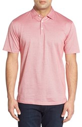 Men's Peter Millar 'Take Five' Regular Fit Short Sleeve Polo Shirt Summer Coral
