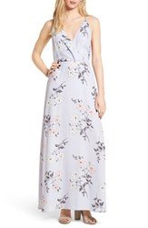 Lush Surplice Maxi Dress Pale Lilac Floral