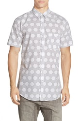 Zanerobe Polka Dot Short Sleeve Shirt White Black