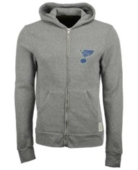 Retro Brand Men's St. Louis Blues Primary Full Zip Hoodie Gray