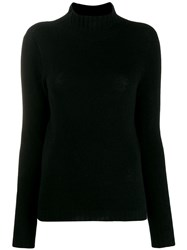 Stefano Mortari Crocheted Detail Jumper Black