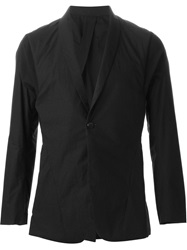 Abasi Rosborough 'Arc' Shawl Lapel Blazer Black