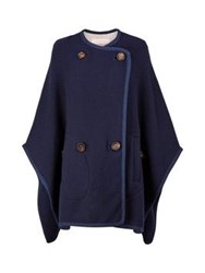 See By Chloe Double Breasted Cape Navy