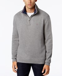Tommy Hilfiger French Rib Quarter Zip Frost Grey