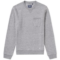 Woolrich Pocket Crew Sweat Grey