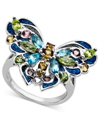 Town And Country Sterling Silver Ring Multistone Butterfly Ring 1 13 15 Ct. T.W.