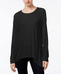 Bar Iii Ribbed Handkerchief Top Only At Macy's Black