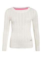 Superdry Croyde Cable Crew Winter White