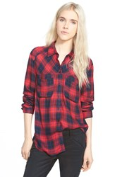 Women's Ace Delivery Button Front Plaid Shirt