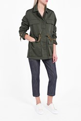 Theory Women S Thornwood Khaki Jacket Boutique1 Green