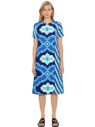 House Of Holland Geometric Printed Crepe Wrap Shift Dress