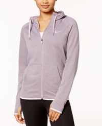 Nike Dry Lightweight Fleece Full Zip Training Hoodie Plum Fog Bleached Lilac