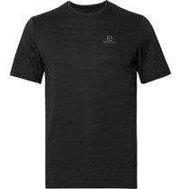 Salomon Xa Perforated Stretch Jersey T Shirt Black