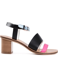 Paul Smith Colour Block Sandals Black
