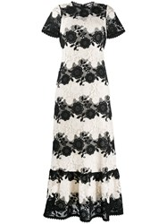 Red Valentino Redvalentino Striped Lace Gown 60