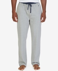 Nautica Men's Colorblocked Pajama Pants Grey Heather