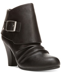 Fergalicious Mckenzie Cuffed Booties Women's Shoes Black