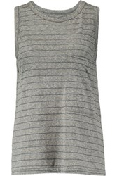 Current Elliott The Pocket Striped Jersey Tank Dark Gray