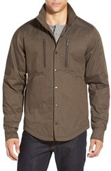 Men's Nau Water Resistant 'Utility' Work Shirt Tobacco Heather