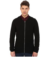 Lindbergh Kint Cardigan With Zipper Black Men's Sweater