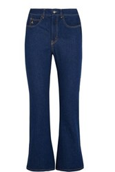 Attico Rosa High Rise Flared Jeans Dark Denim