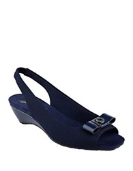 Anne Klein Honora Slingback Sandals Navy