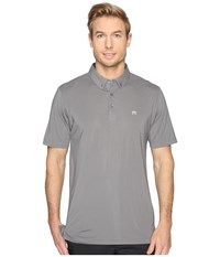Travis Mathew Snap Fade Polo Quiet Shade White Men's Clothing Gray