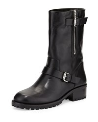 Vc Signature Riona Leather Moto Boot Black Women's