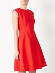 John Lewis Savannah Fit And Flare Dress Coral