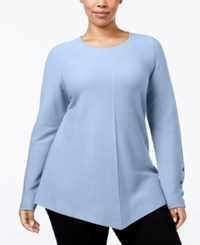 Alfani Plus Size High Low Sweater Only At Macy's Gentle Blue