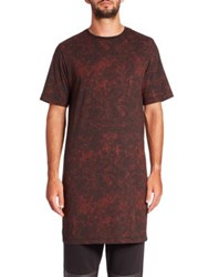 Saks Fifth Avenue X Anthony Davis Two Tone Cotton Blend Long Tee Caviar Print