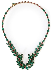 Christian Dior Vintage Glamour Necklace Green