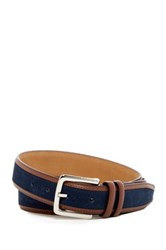 Cole Haan Feather Edge Suede Belt Blue