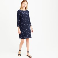 J.Crew Petite Silk Shift Dress In Polka Dot