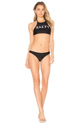 Private Party Salty Two Piece Swimsuit Black