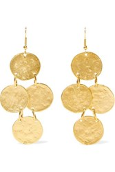 Kenneth Jay Lane Gold Plated Earrings One Size