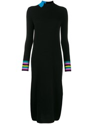 Chinti And Parker Long Roll Neck Dress Black